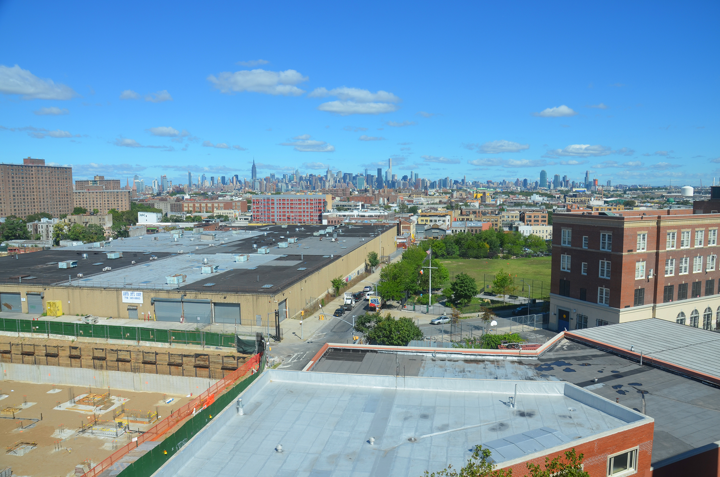 View from terrace atop 95 Evergreen Avenue