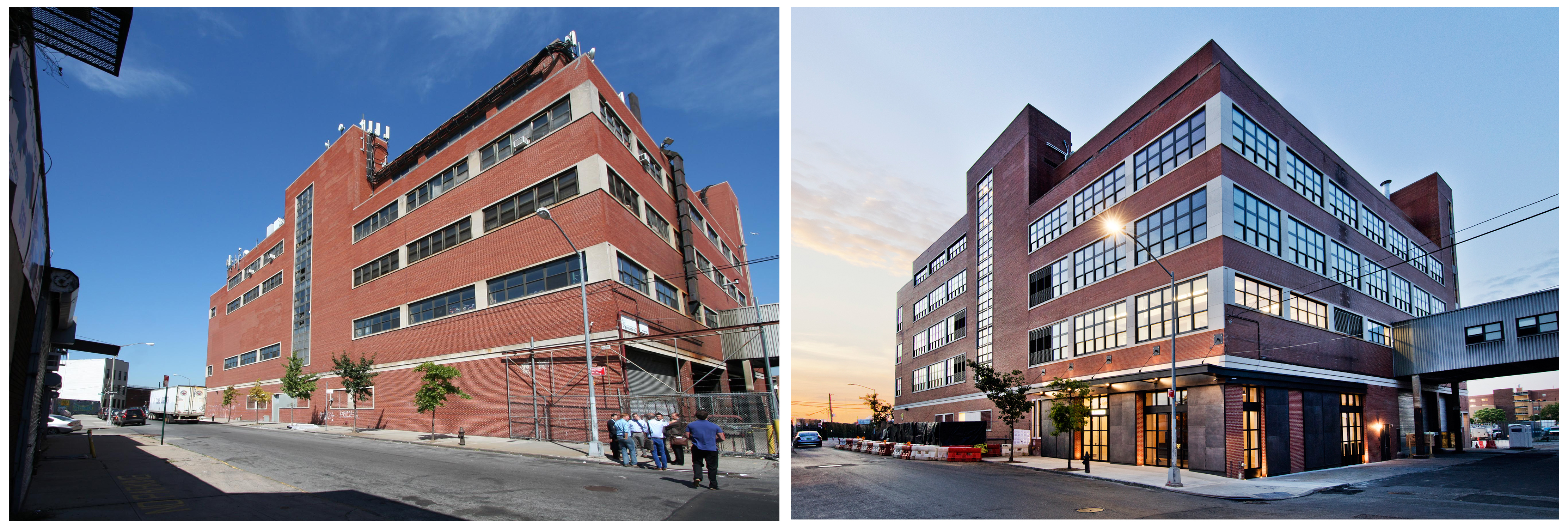 95 Evergreen Avenue, exterior, pre-conversion and post-conversion. Photos by Connie Zhou