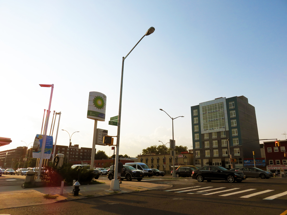 Looking northwest from 65th Place and Queens Boulevard
