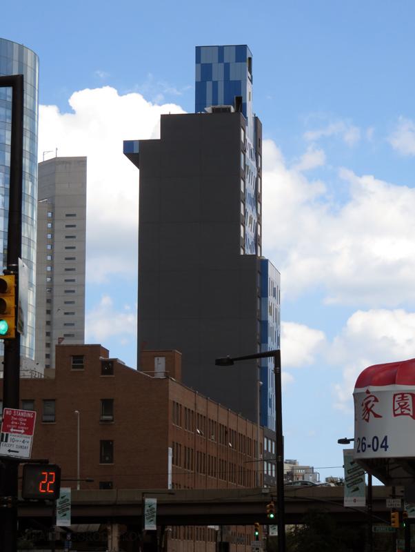 Looking east along Jackson Avenue