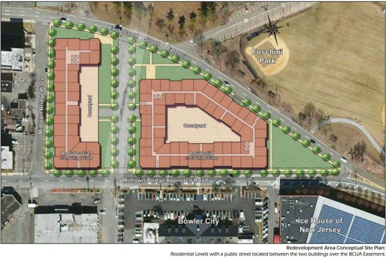 """Conceptual plan for Lot """"C"""". Image by DMR Architects."""
