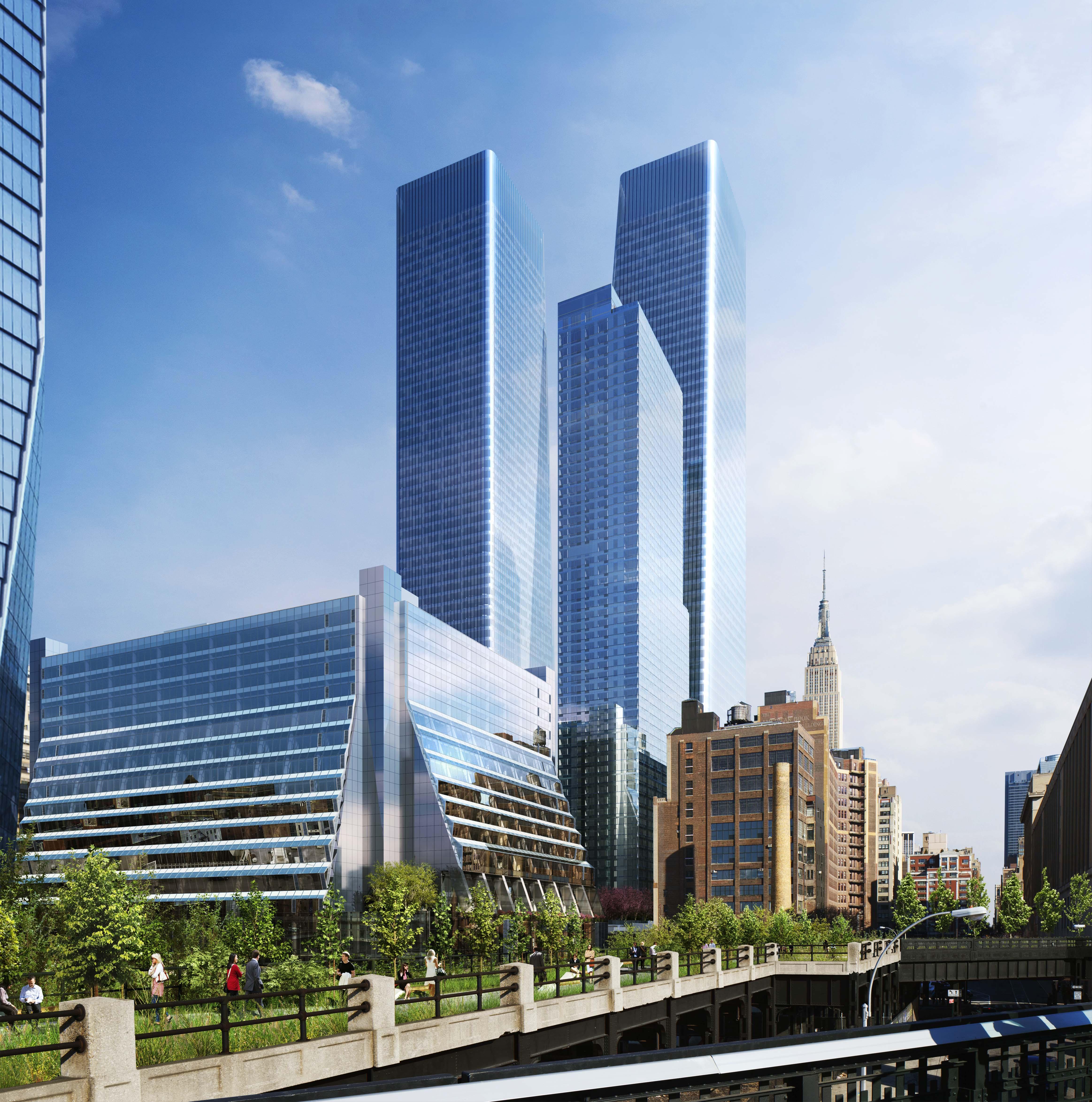 Manhatten New York: Supertall One Manhattan West Now Above Ground