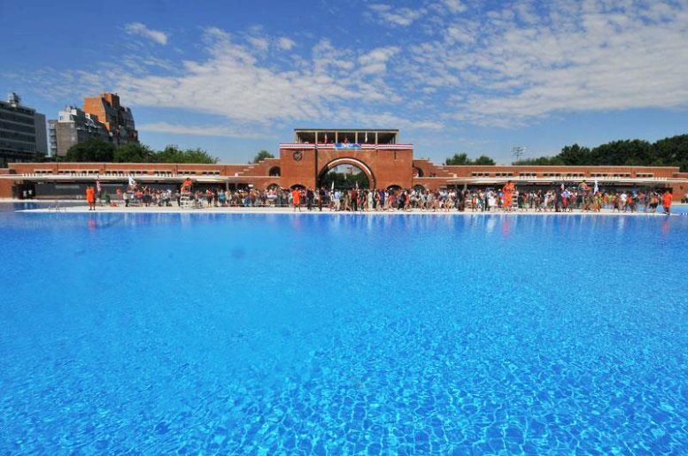 Re-opening day for the McCarren Park pool, June 28, 2012