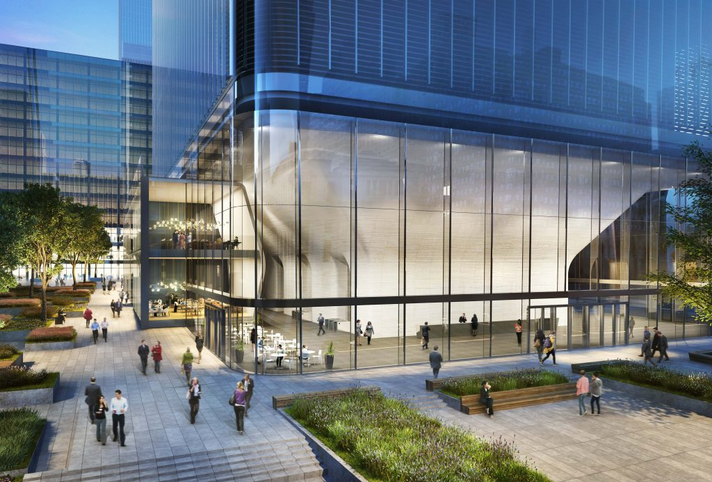 Rendering of One Manhattan West's lobby