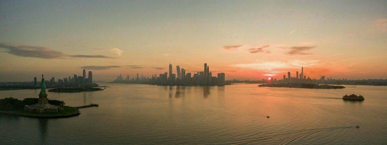 NYC Skyline ~2022, by Thomas Koloski, original image by Eric via Flickr