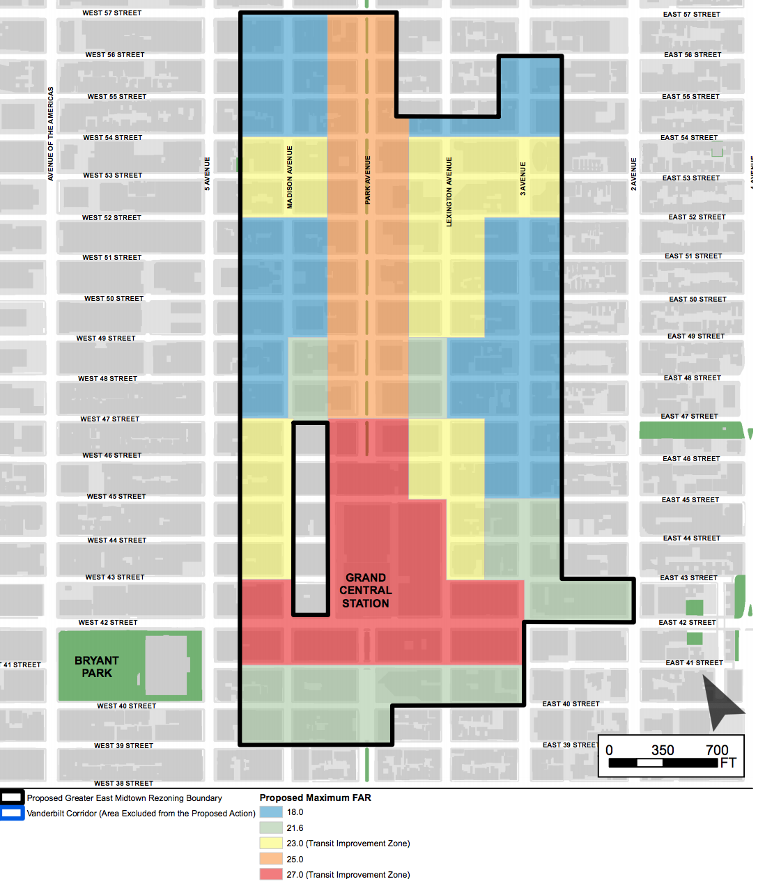 The new Midtown East District, image via DCP