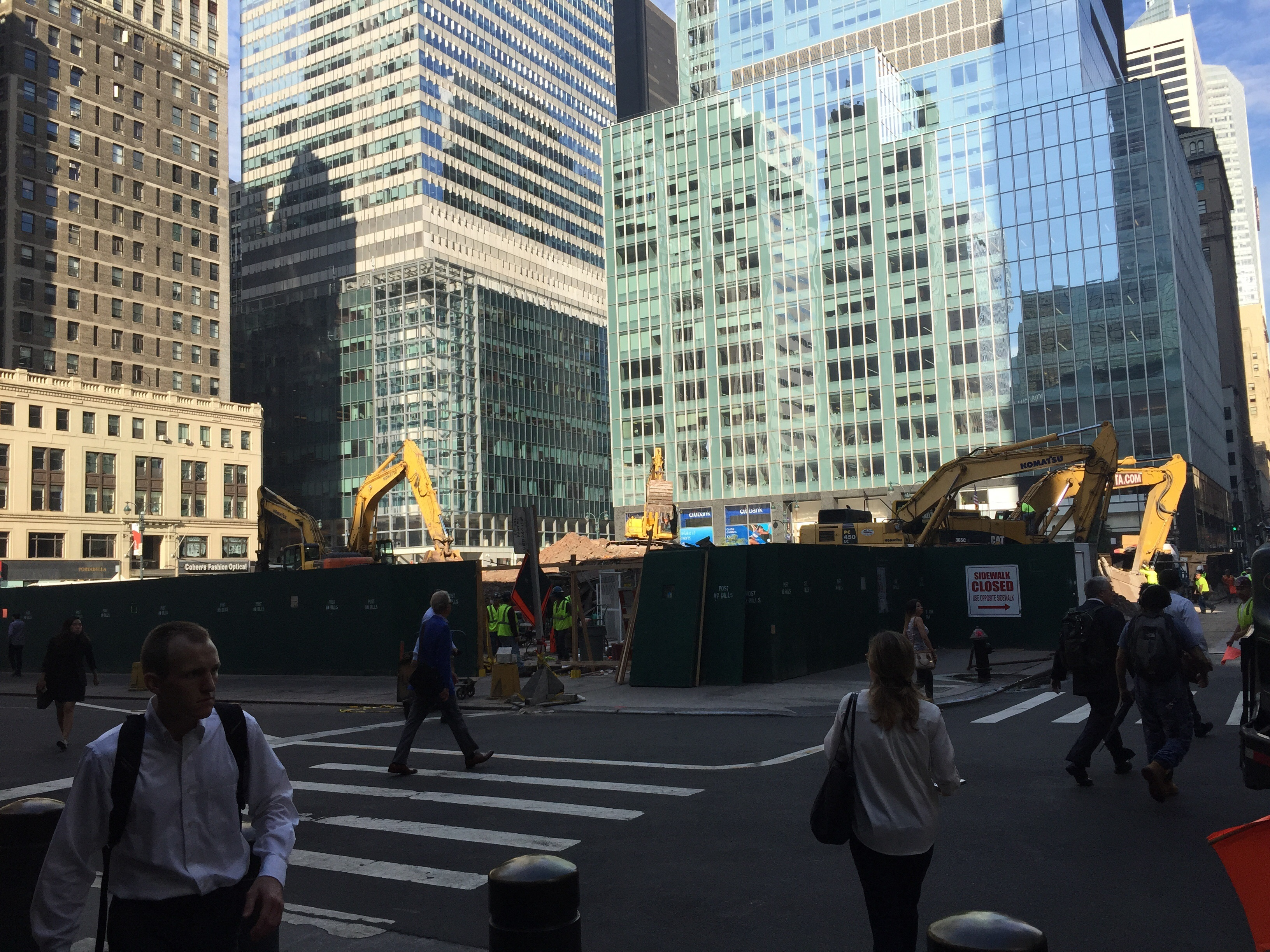 One Vanderbilt site, August 16, 2016. Photo by YIMBY Forums user robertwalpole