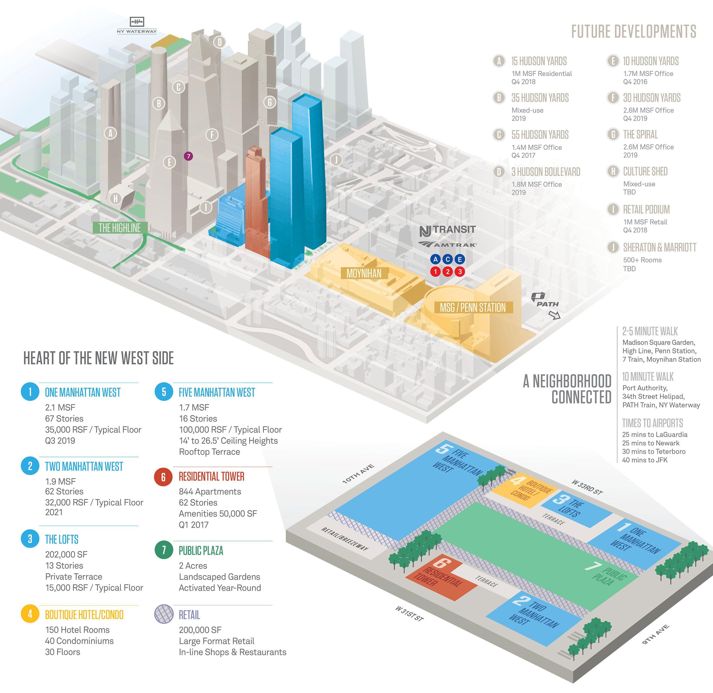Map of Manhattan West. Via Brookfield Properties