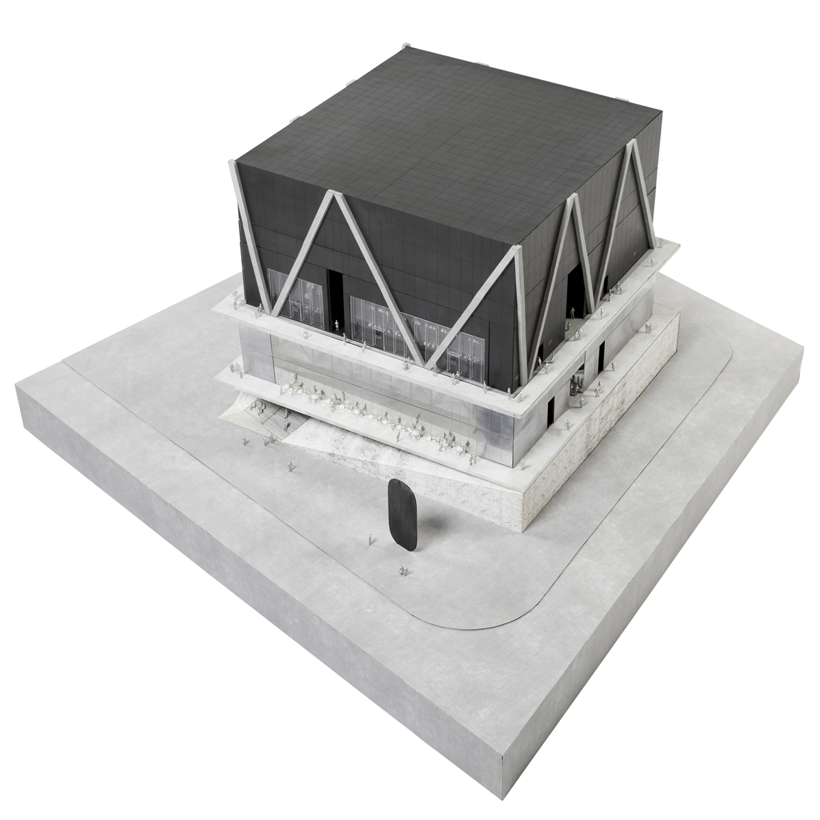 Digital model of the Ronald O. Perelman Performing Arts Center at the World Trade Center without the facade. By Chris Janjic