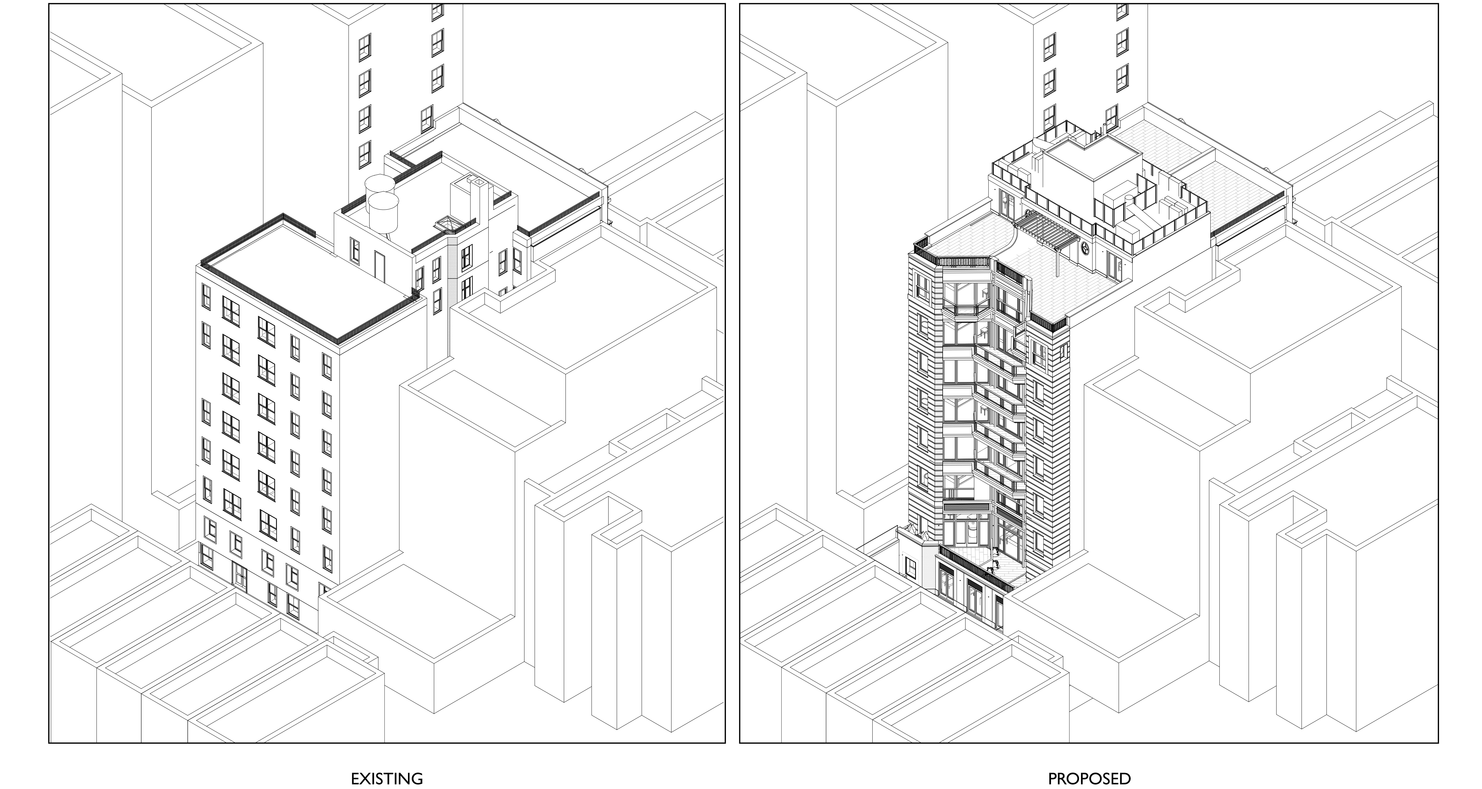 Proposed massing of 164 West 74th Street