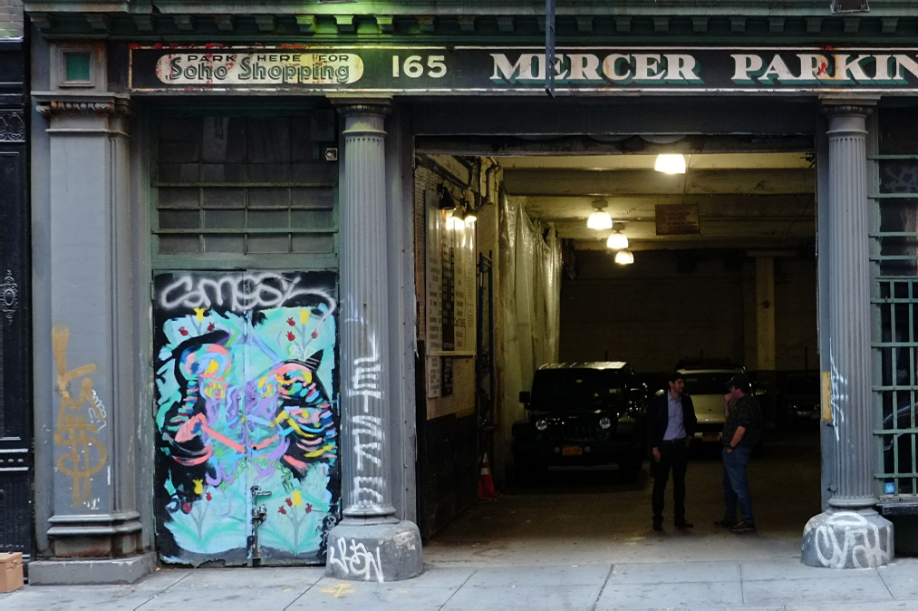 Existing garage entrance at 165 Mercer Street