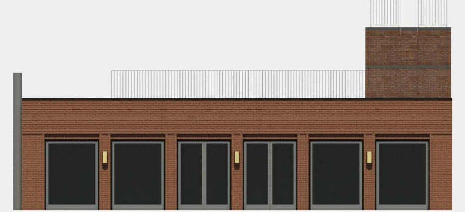 Rendering of proposed sixth floor and bulkhead for 165 Mercer Street