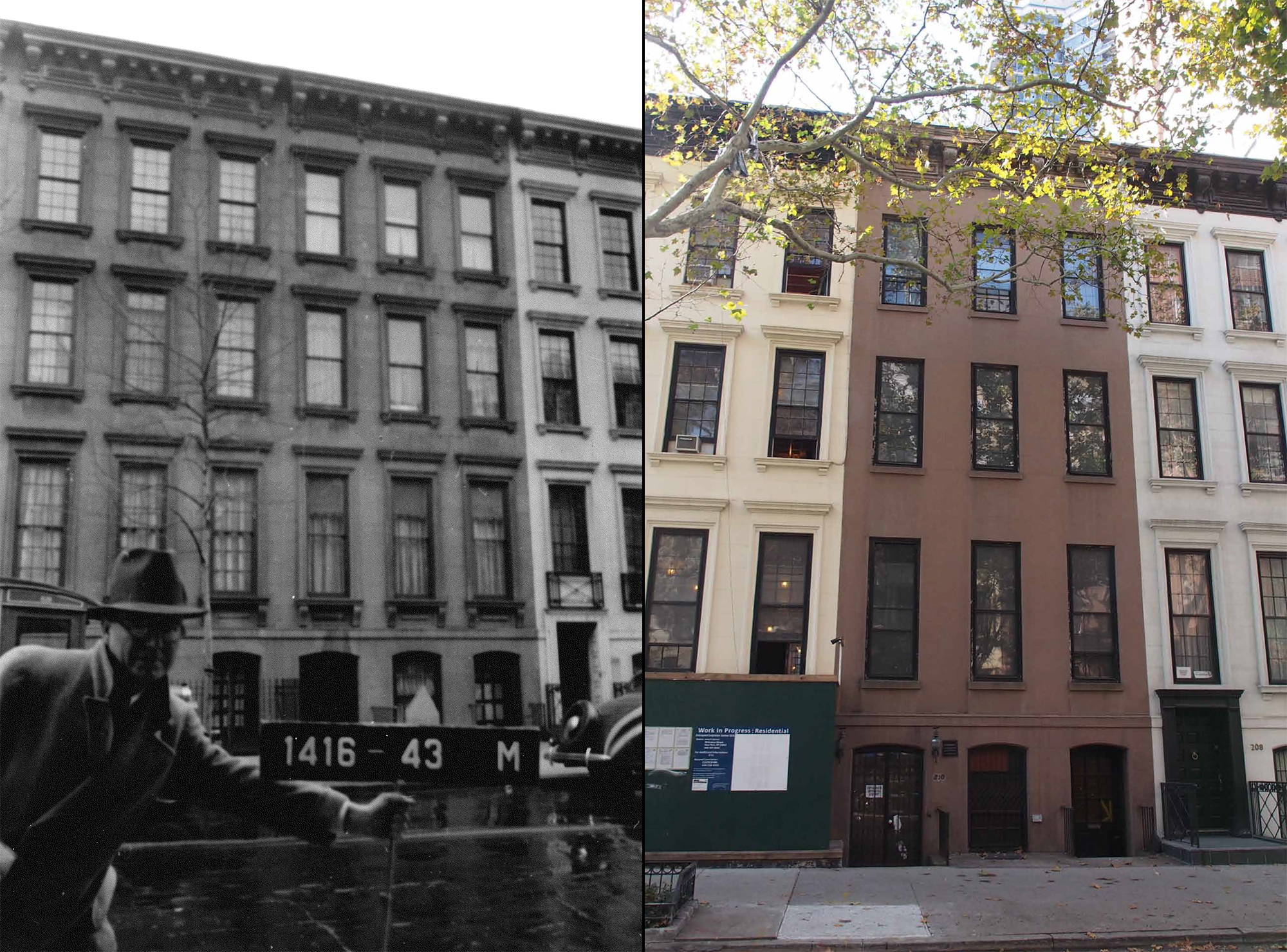 210 East 62nd Street, 1939 tax photo and existing conditions