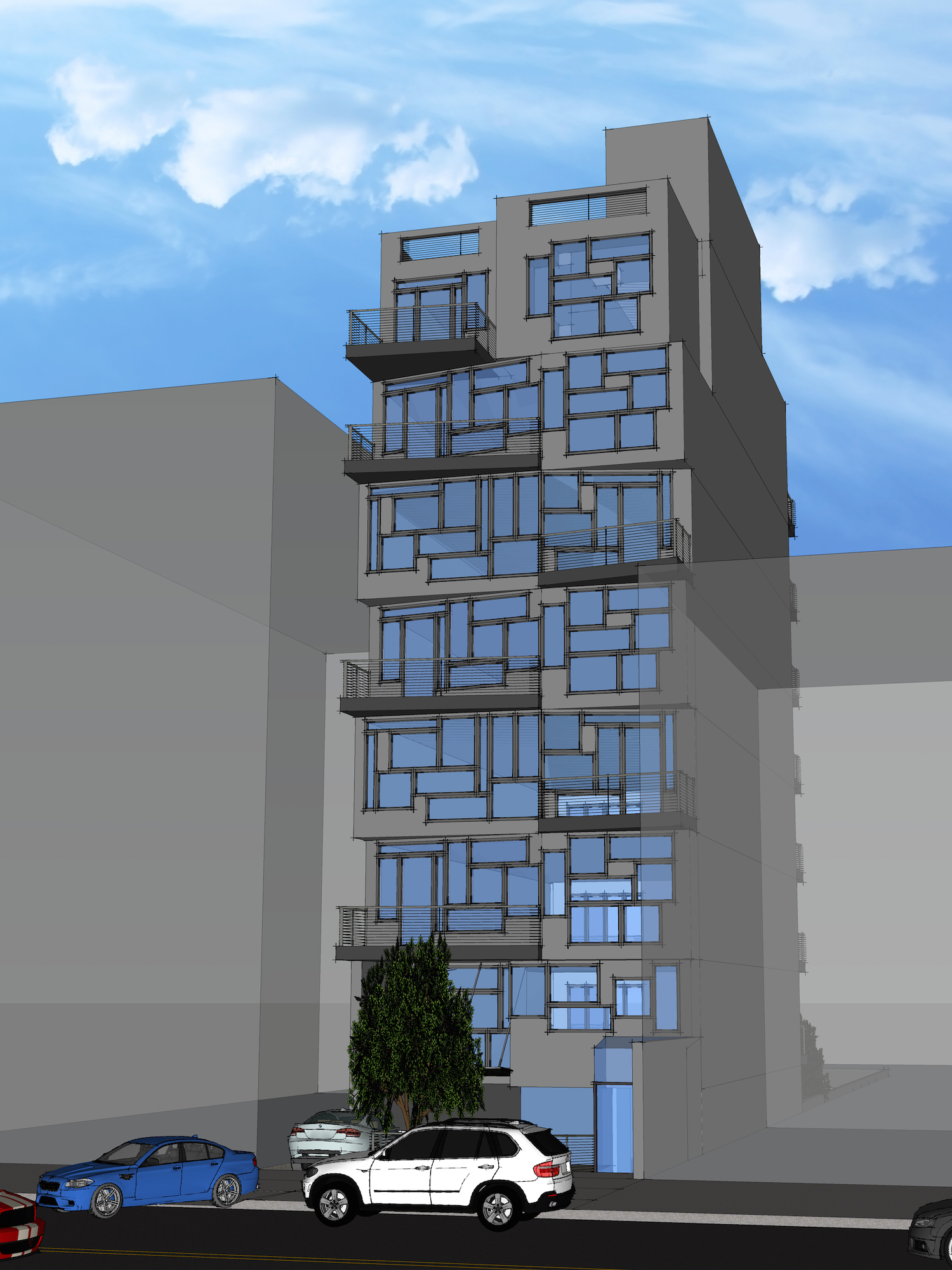 23-23 Astoria Boulevard, rendering by HCN Architects