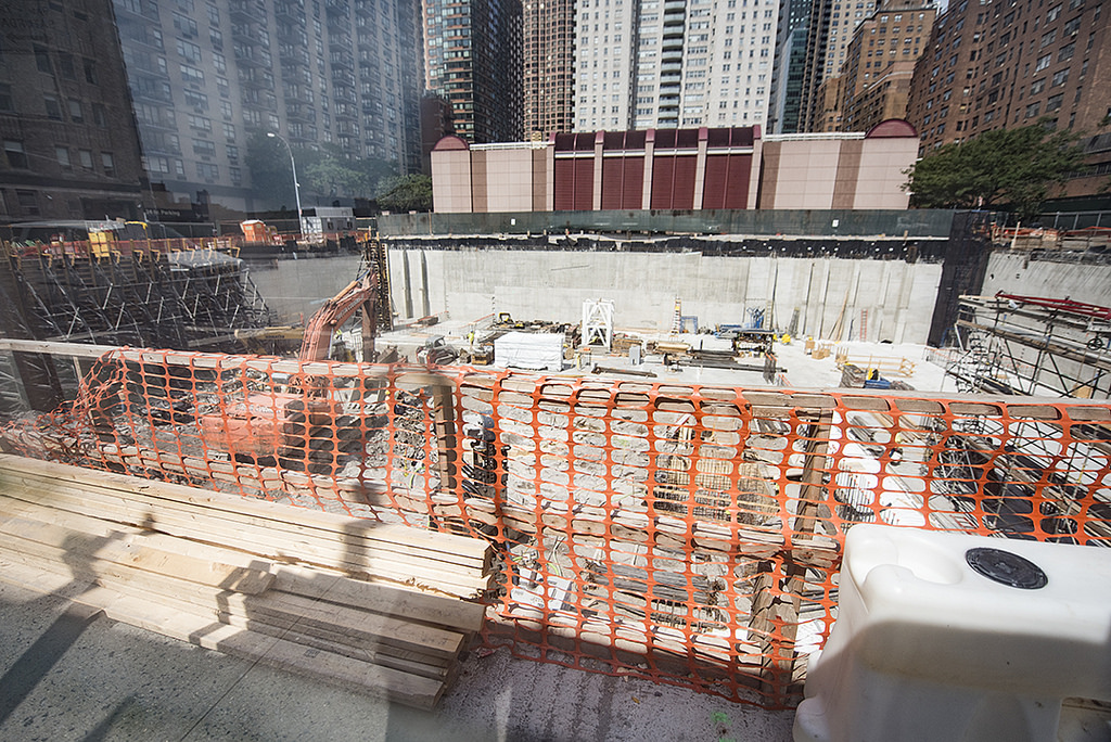 Work at 685 First Avenue. Photo by Tectonic via YIMBY Forums