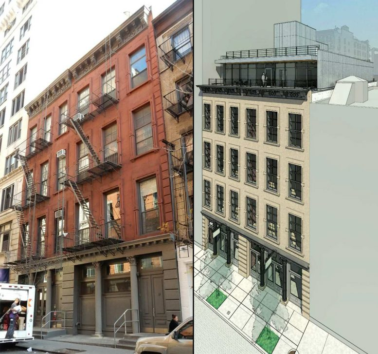 61-63 Crosby Street, existing and proposed