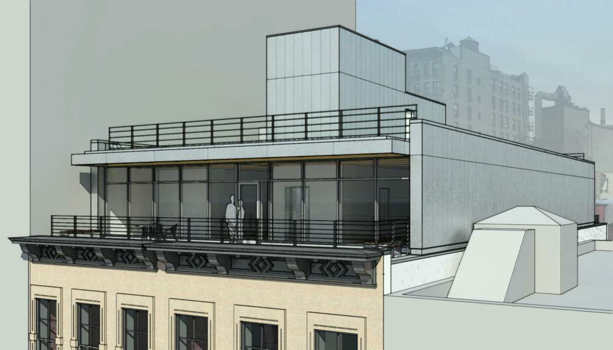 Proposal for fifth floor addition to 61-63 Crosby Street, front