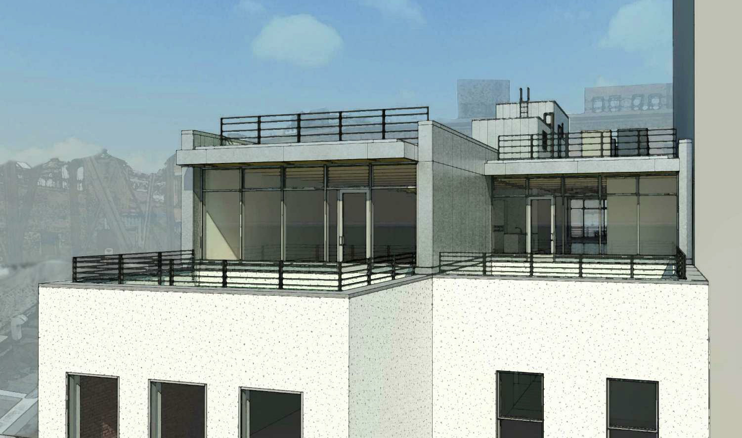 Proposal for fifth floor addition to 61-63 Crosby Street, rear