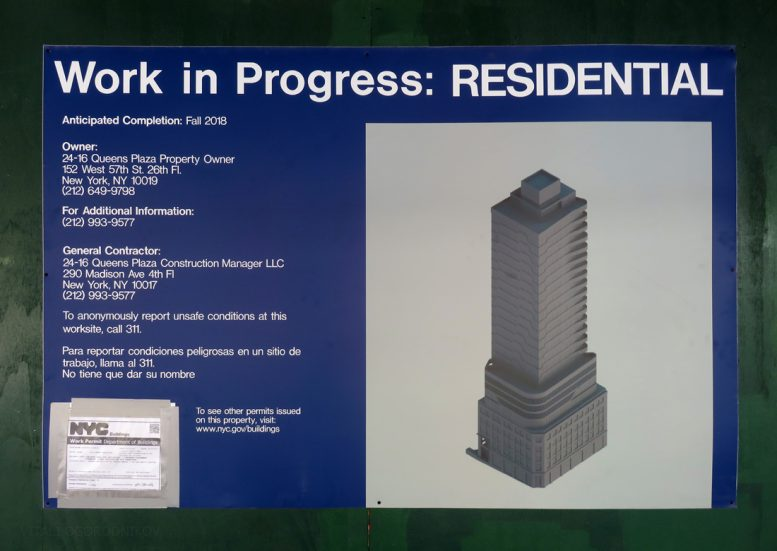 24-16 Queens Plaza South. Construction board. Photos by the author.