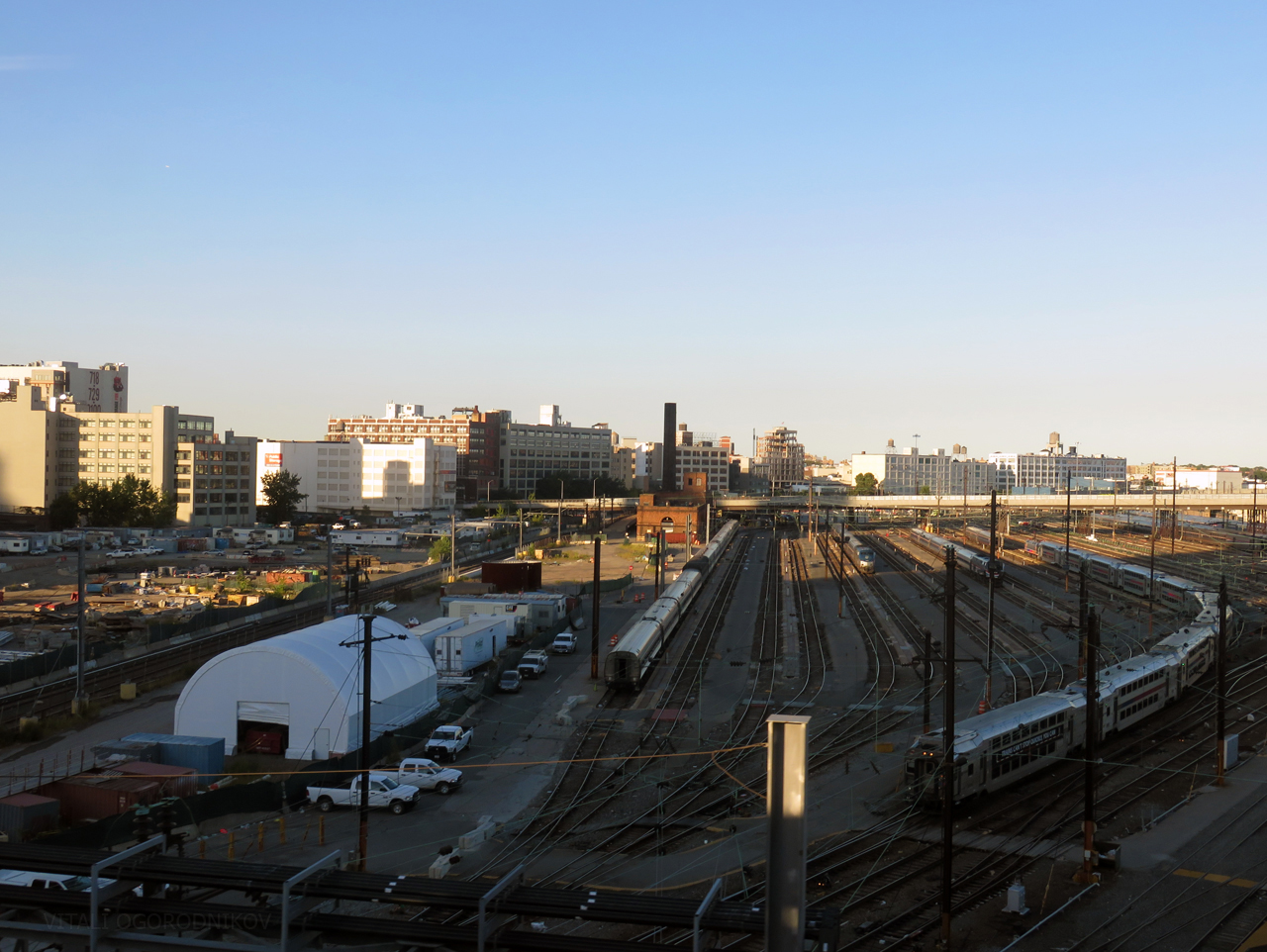 Sunnyside Railyard northeast of Queens Boulevard