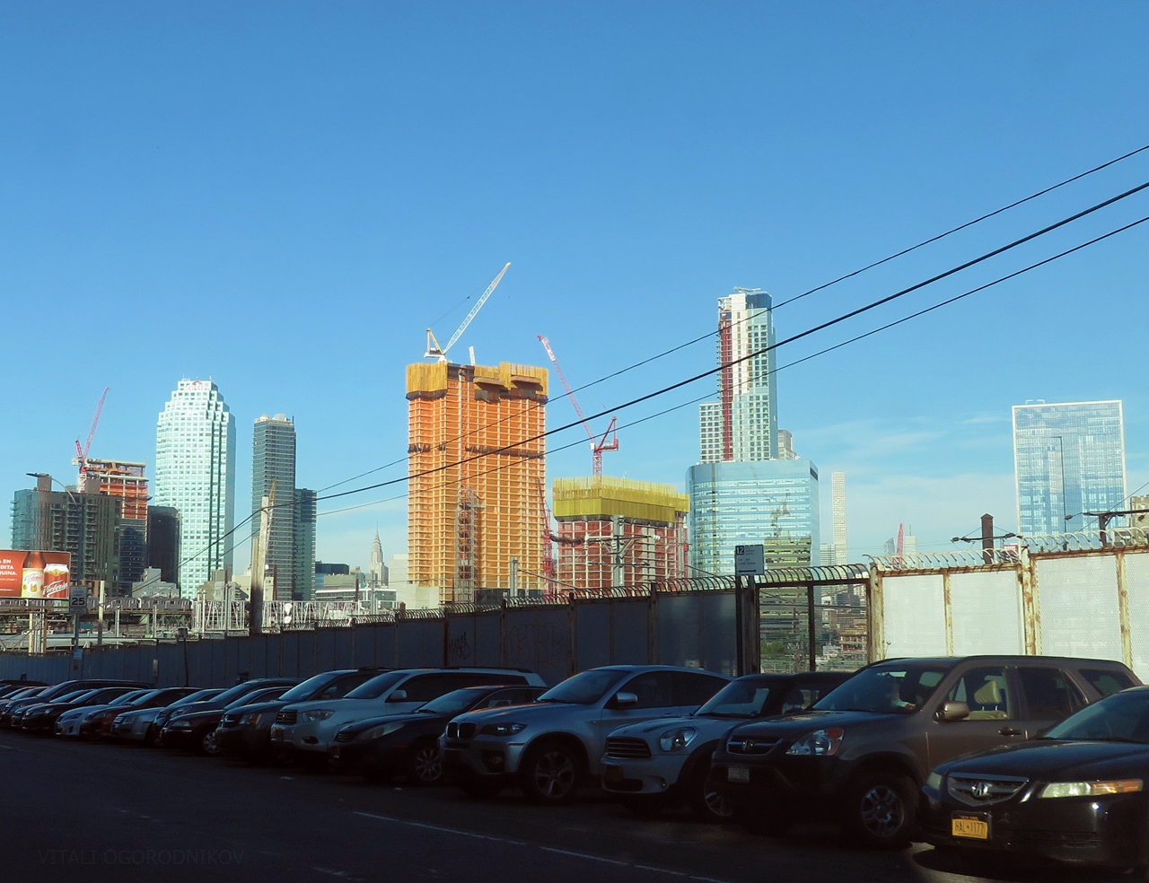 Looking west, with the 28-10 Jackson Avenue complex under construction in the center