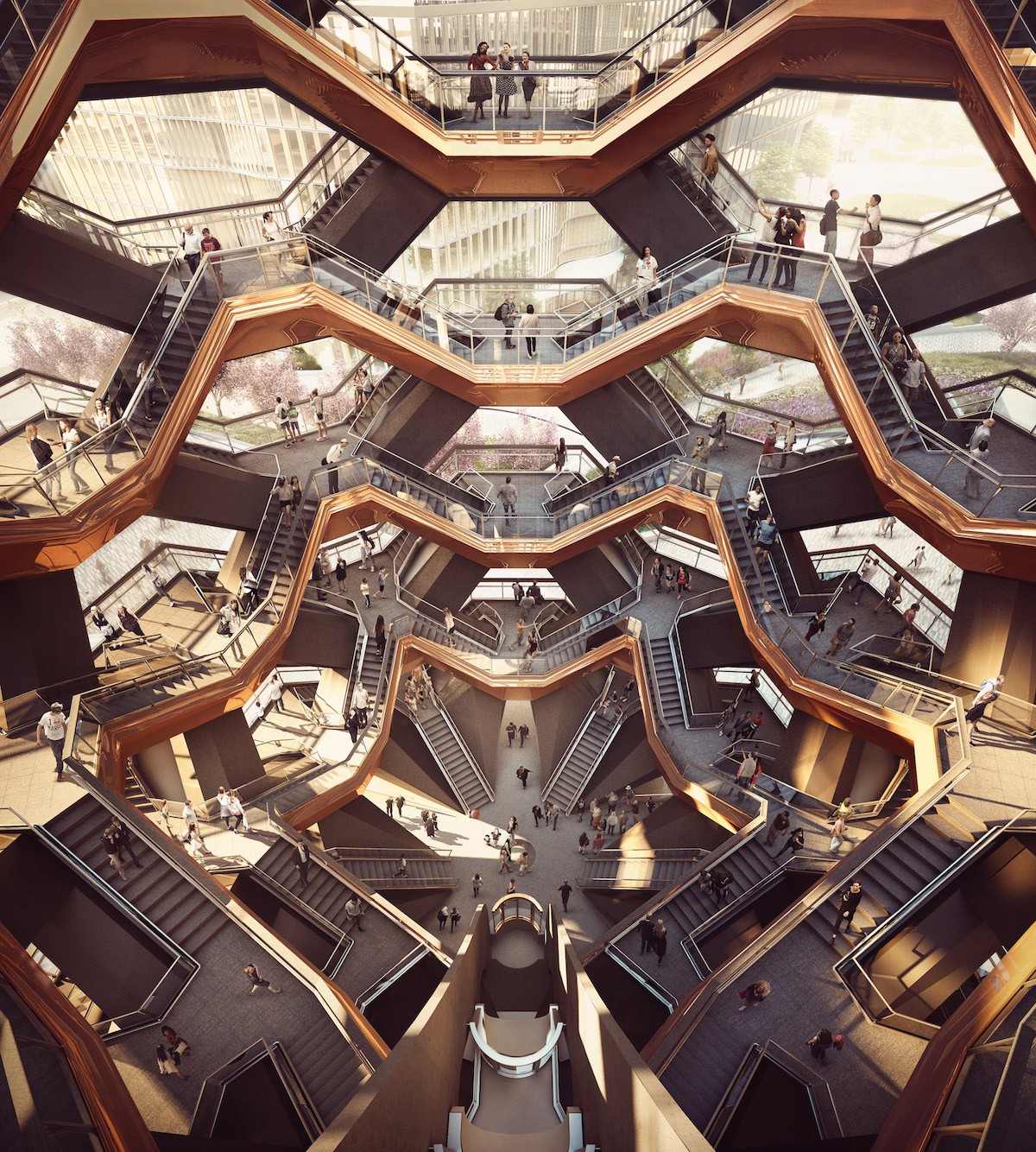 An interior view. rendering by Forbes Massie-Heatherwick Studio
