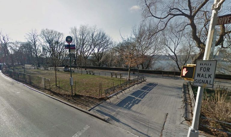 Current southbound bus stop on Riverside Drive at West 104th Street