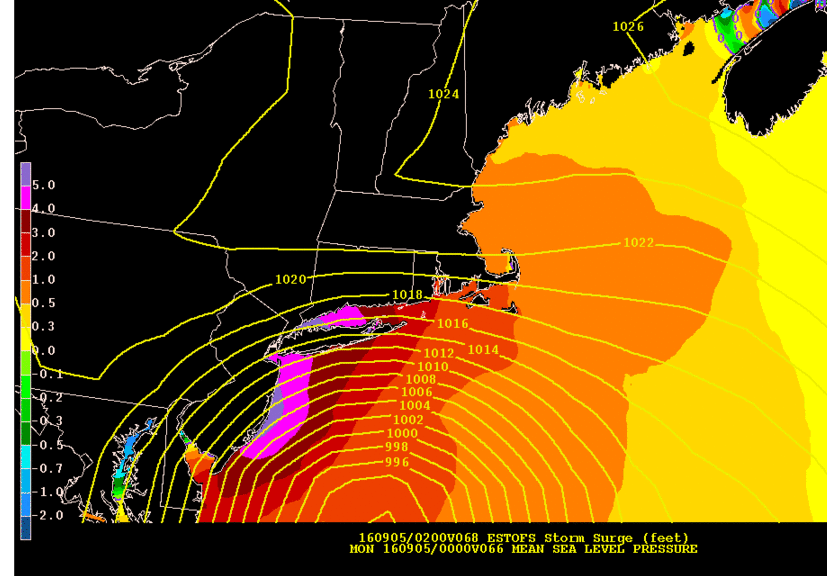 Possible Surge Sunday along the East Coast