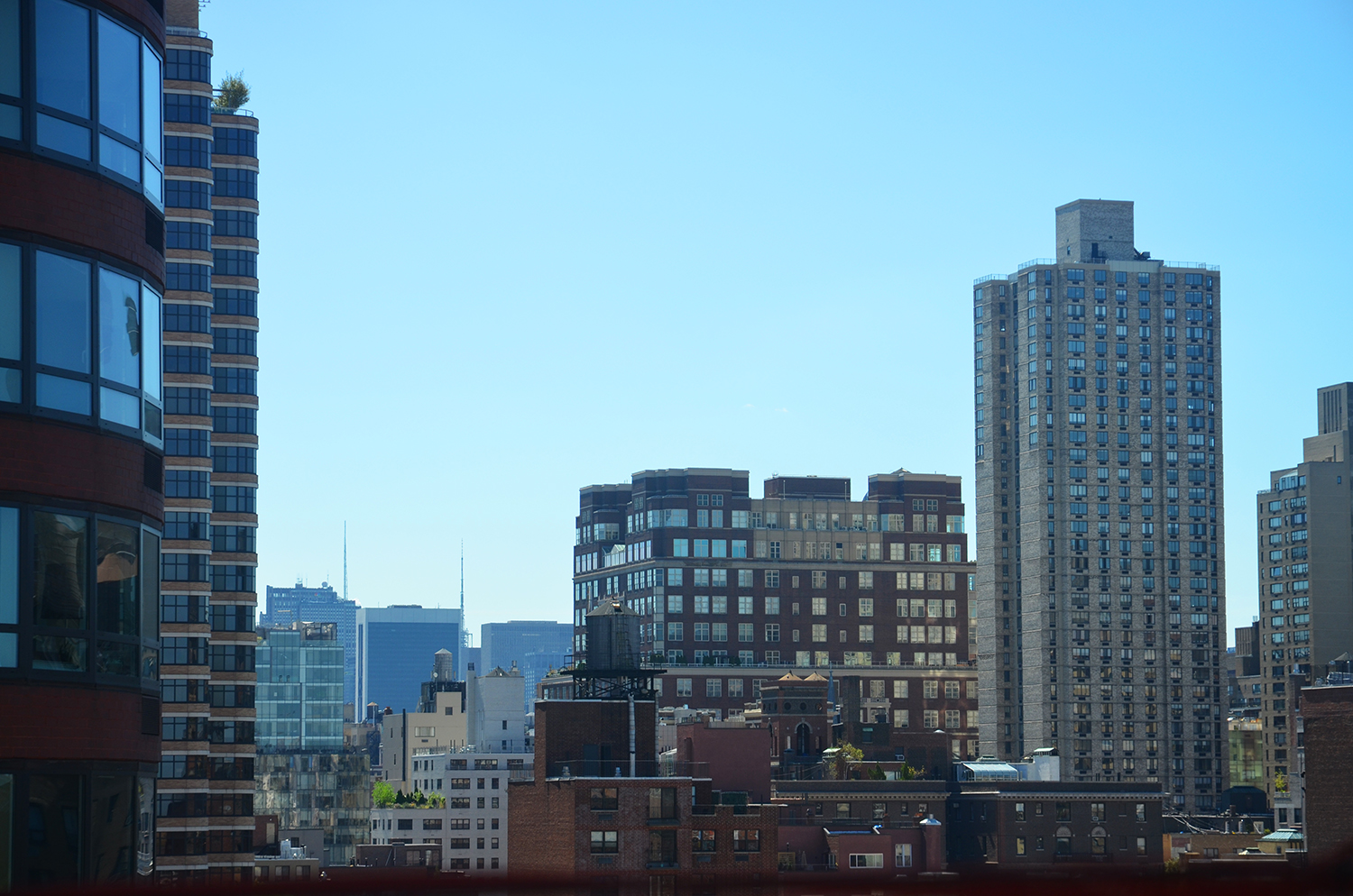 View towards Midtown from the 14th floor of The Kent, 200 East 95th Street