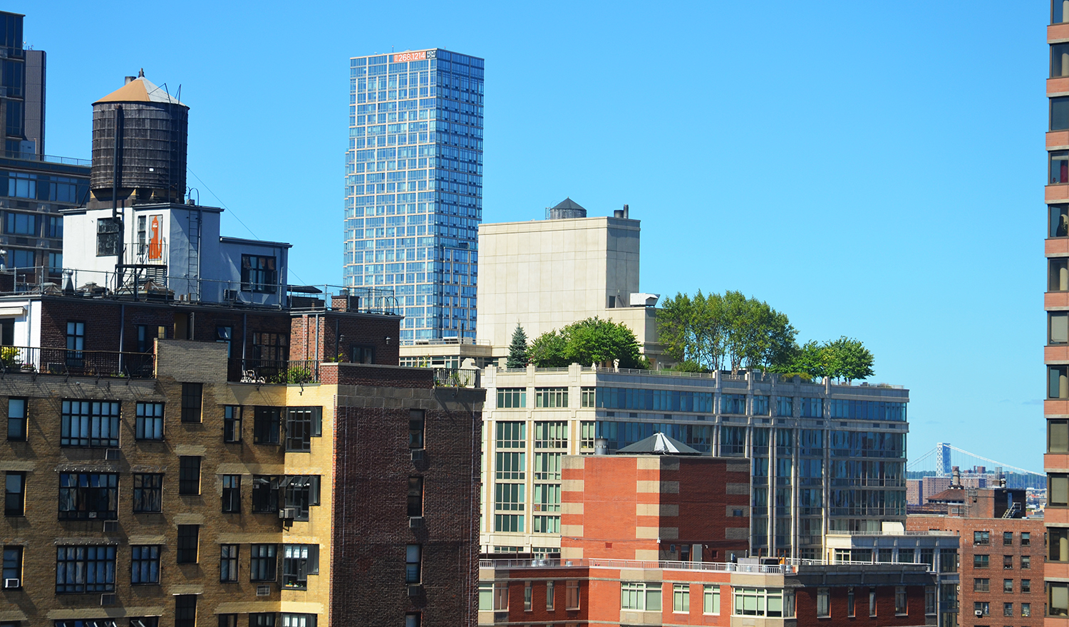 Northwest view from The Kent, 200 East 95th Street