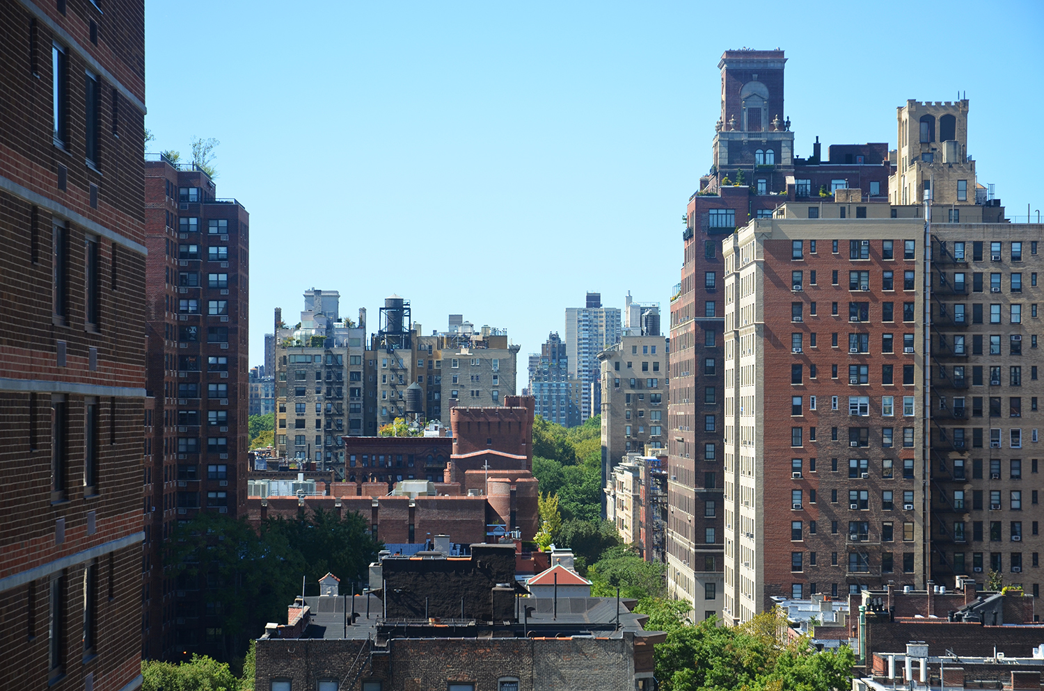 View towards Central Park from The Kent, 200 East 95th Street