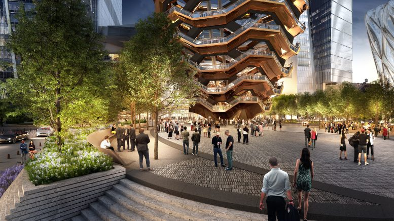 "Thomas Heatherwick's ""Vessel."" rendering by Visual House"