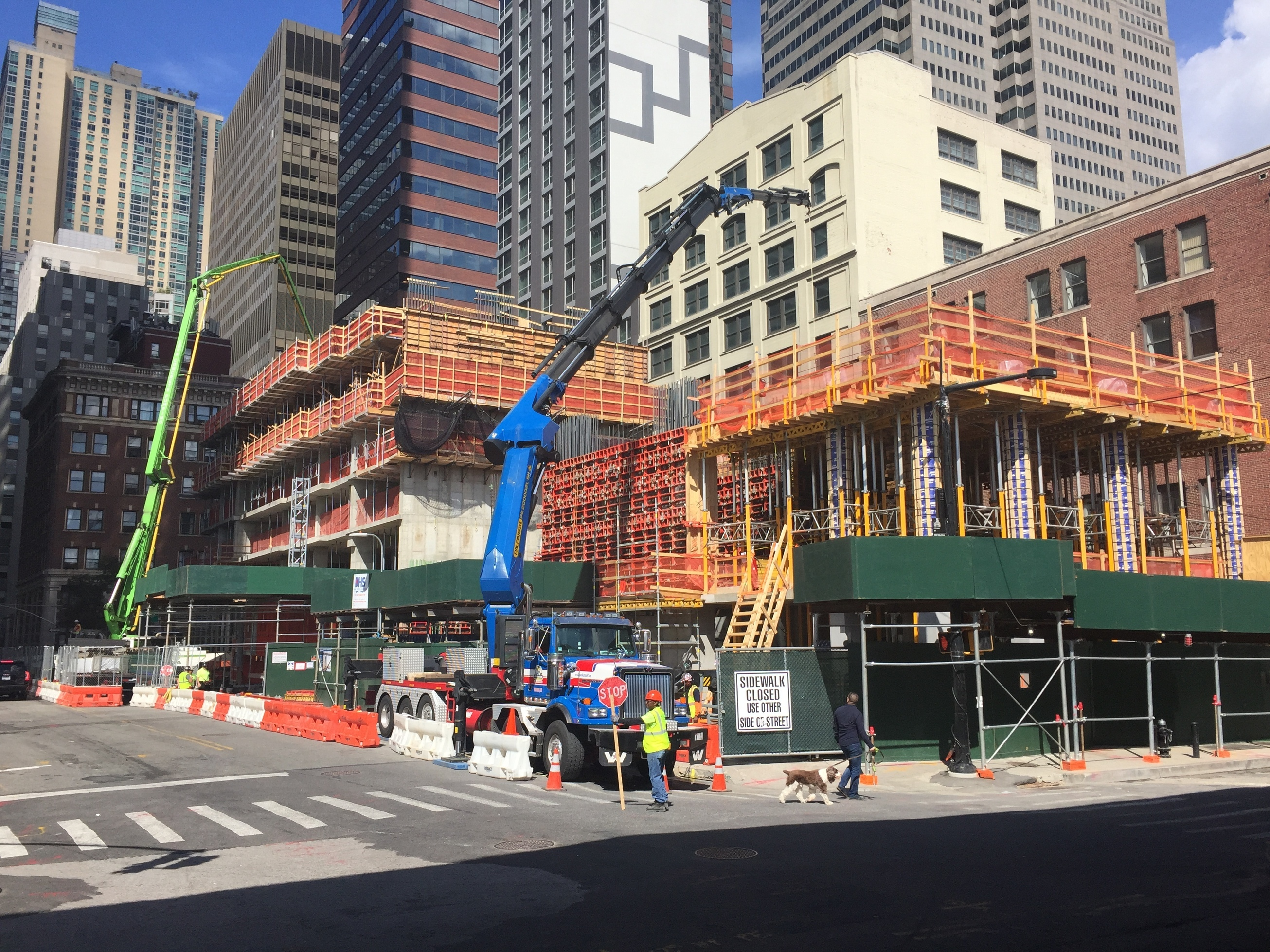 151 Maiden Lane at left, One Seaport at right