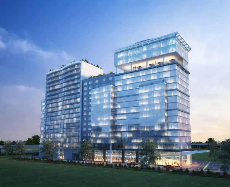 Flushing Point Plaza, rendering by Angelo and Anthony Ng's Architects Studio