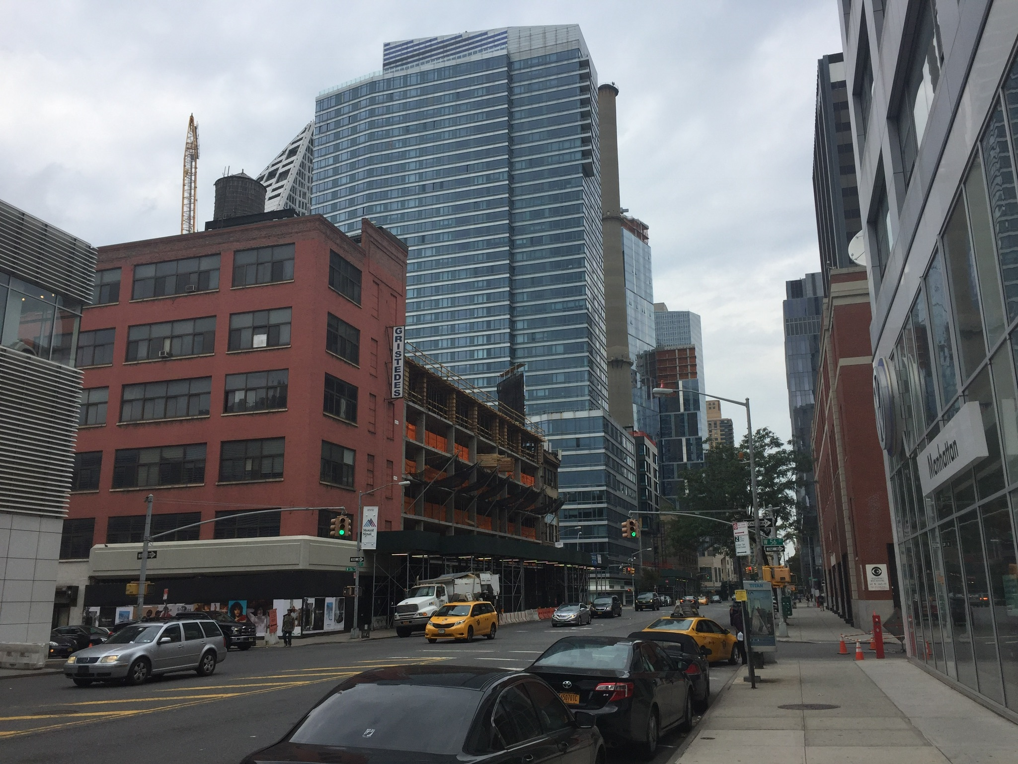 606 West 57th Street, Eleventh Avenue side. Photo by JC_Heights via YIMBY Forums