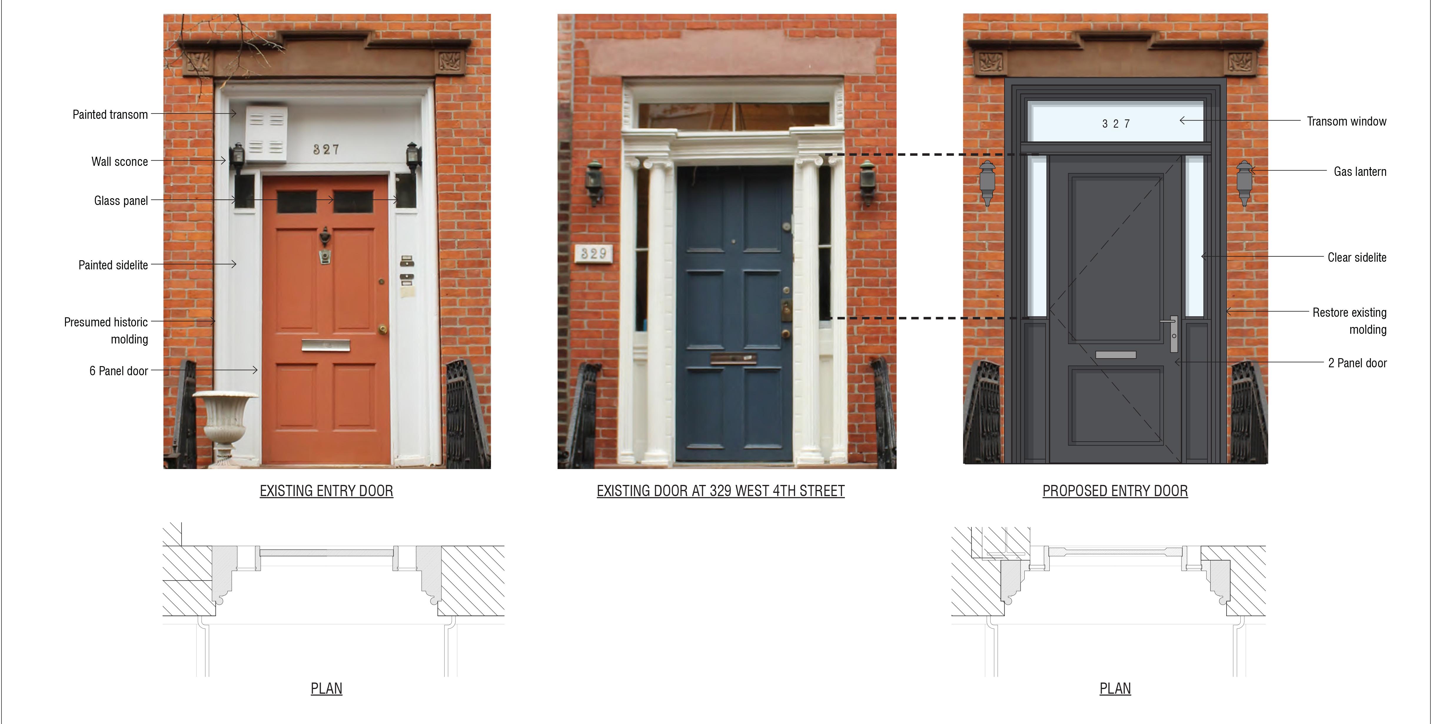 Front door plan for 327 West 4th Street