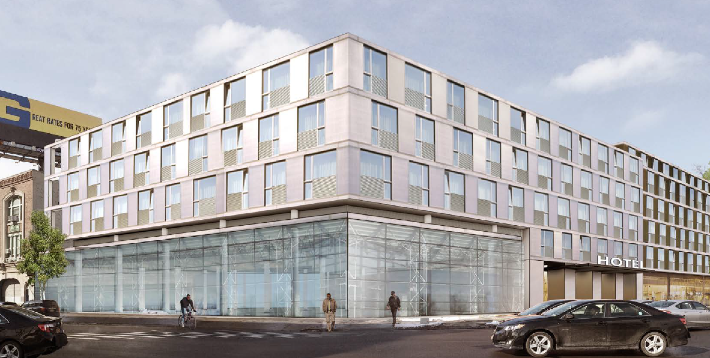 A conceptual rendering for 36-20 Steinway Street, via RKF