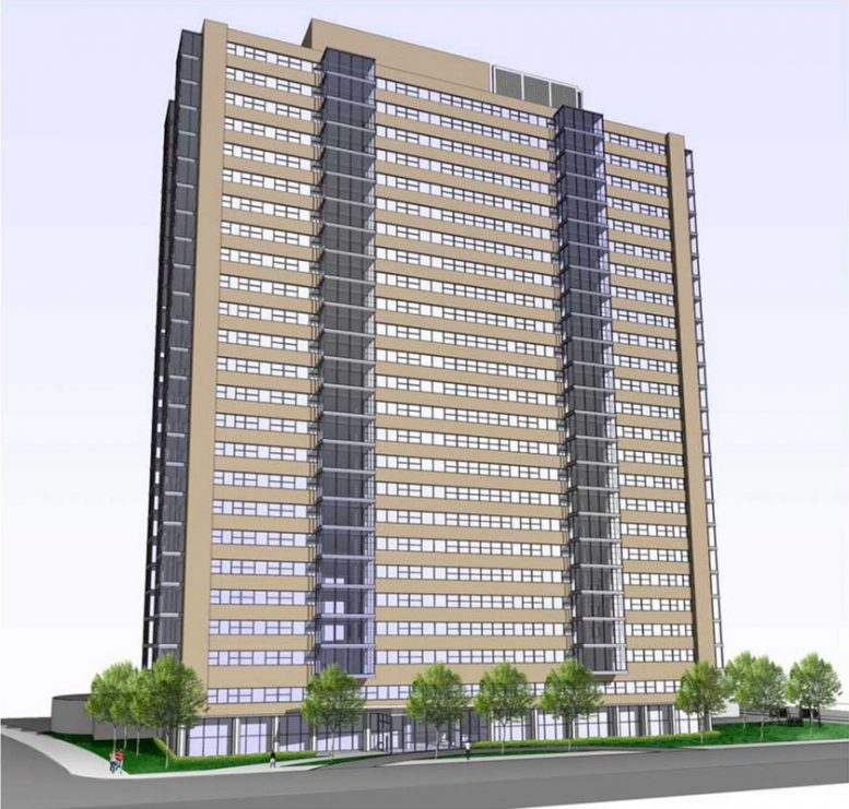 216-Unit Redevelopment Proposed For Abandoned 25-Story