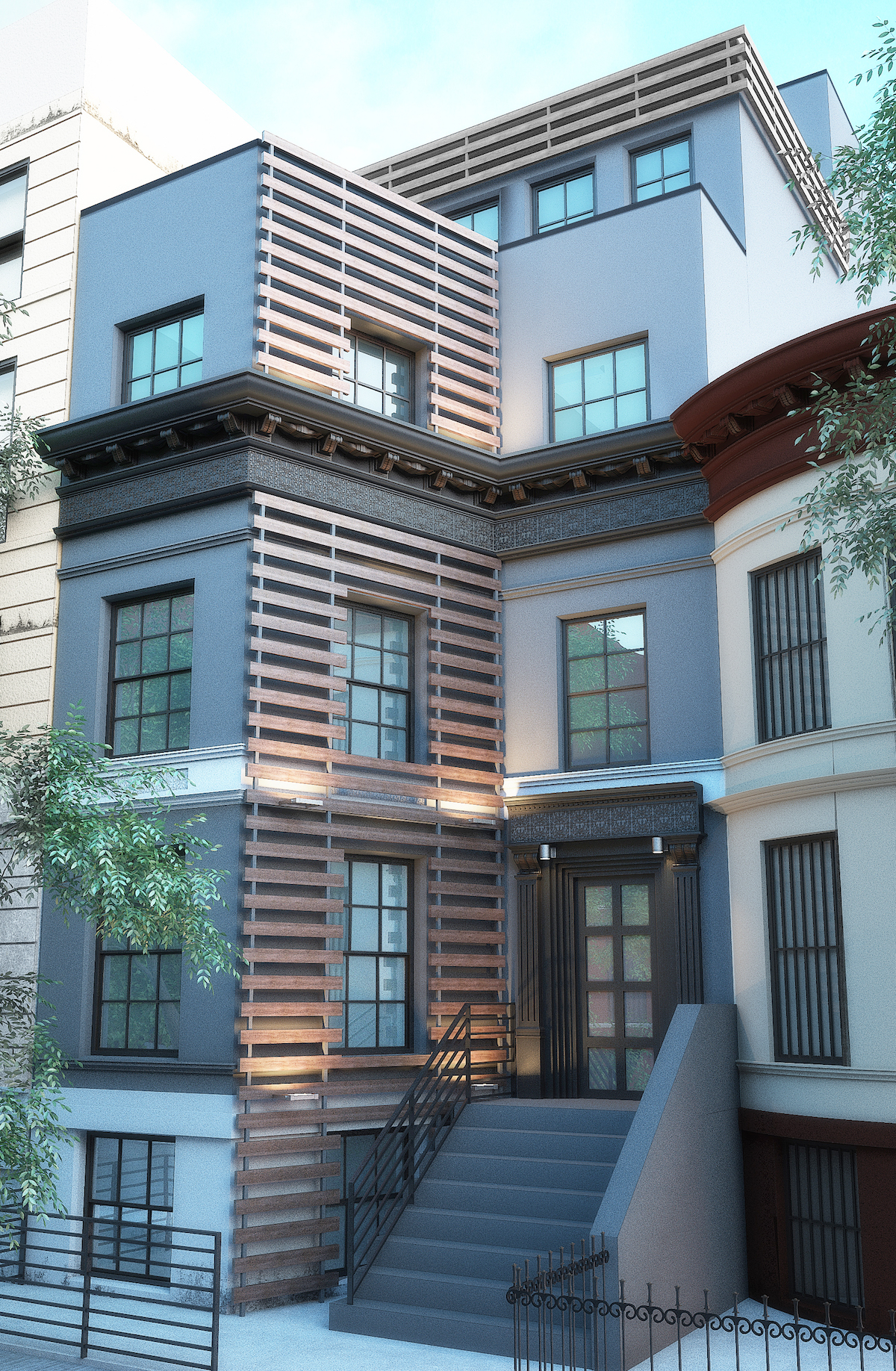 860 Macon Street. rendering by J Goldman Design