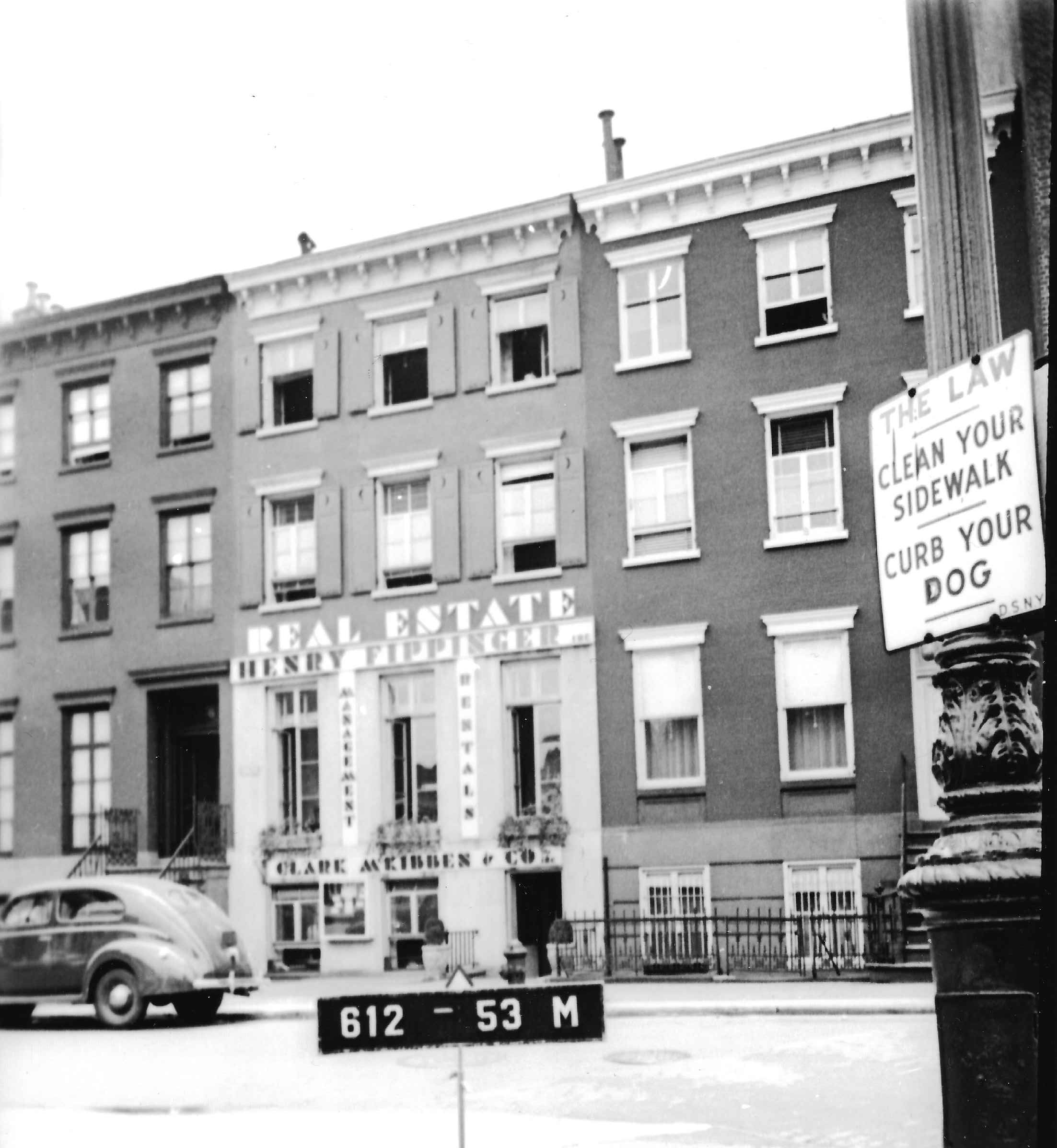 8 Perry Street, 1940