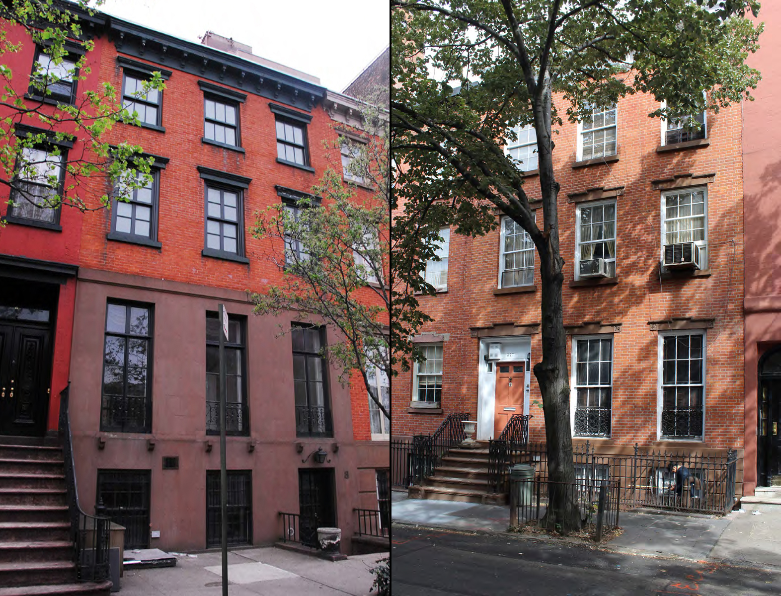 Existing conditions at 8 Perry Street and 327 West 4th Street