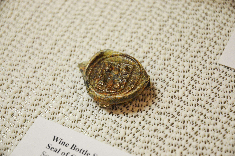 Gov. Benjamin Fletcher's wine bottle seal