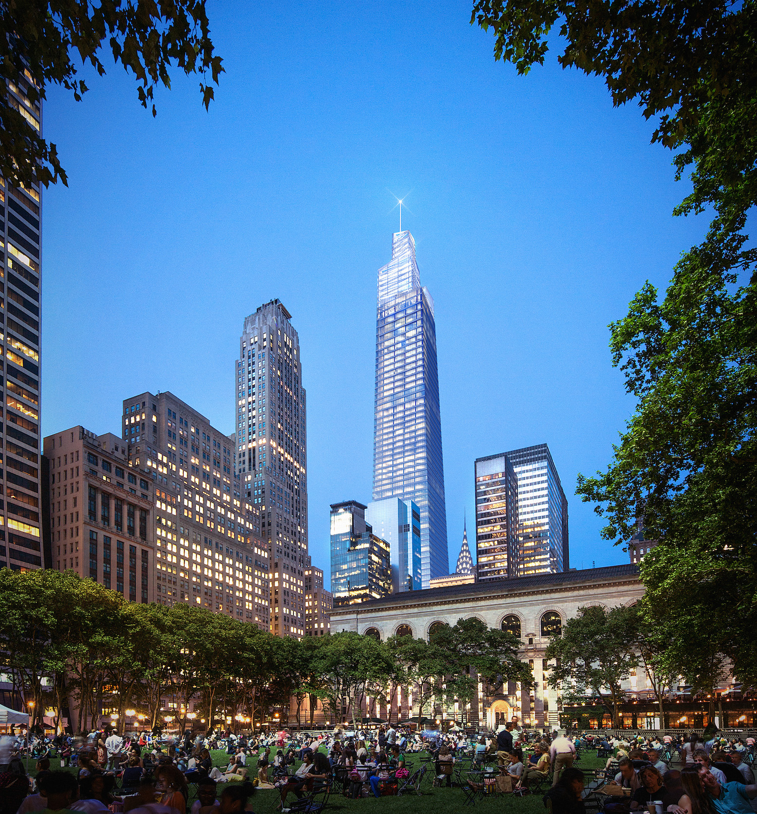 One Vanderbilt Avenue from Bryant Park, courtesy SL Green