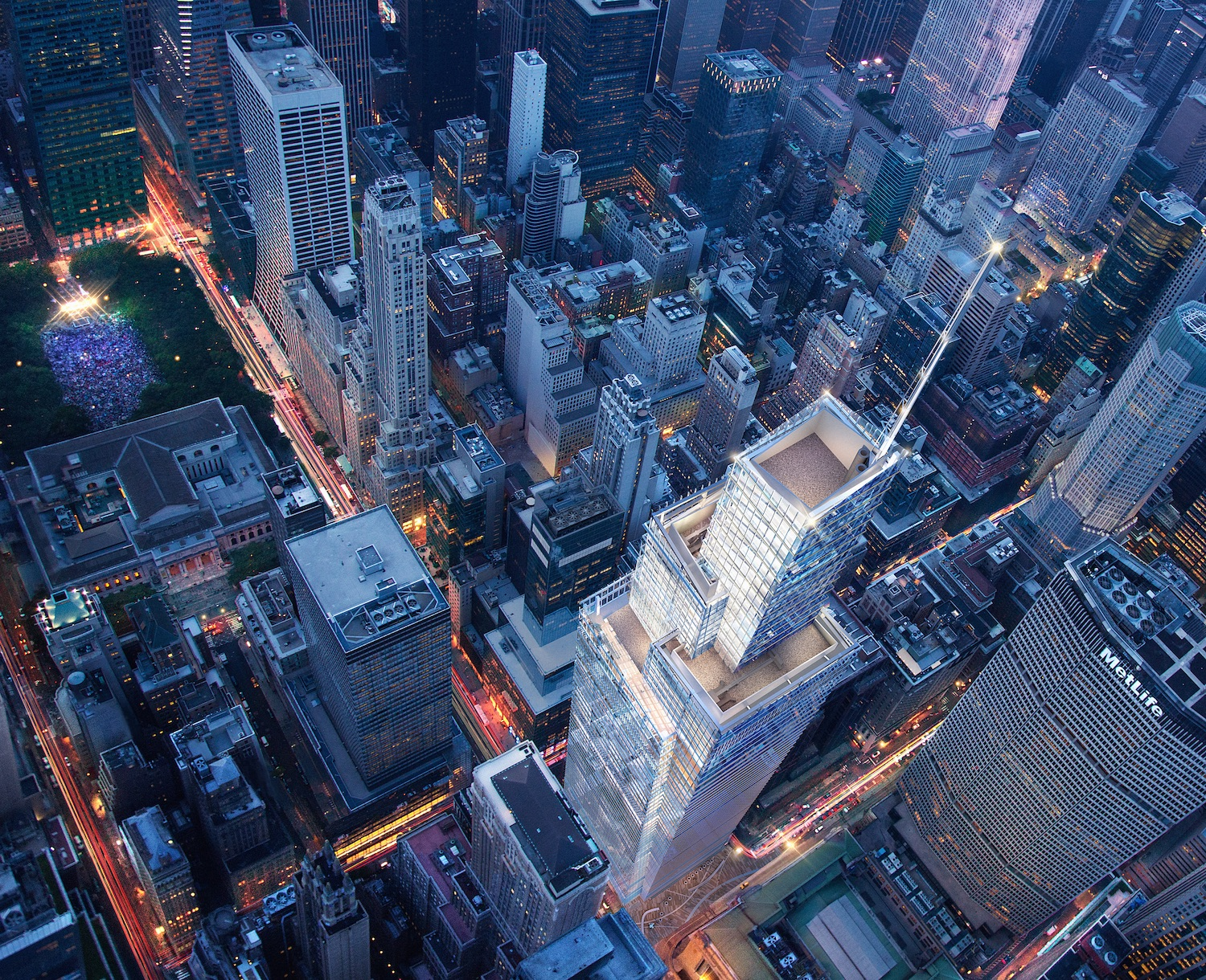 One Vanderbilt Avenue from above, courtesy SL Green
