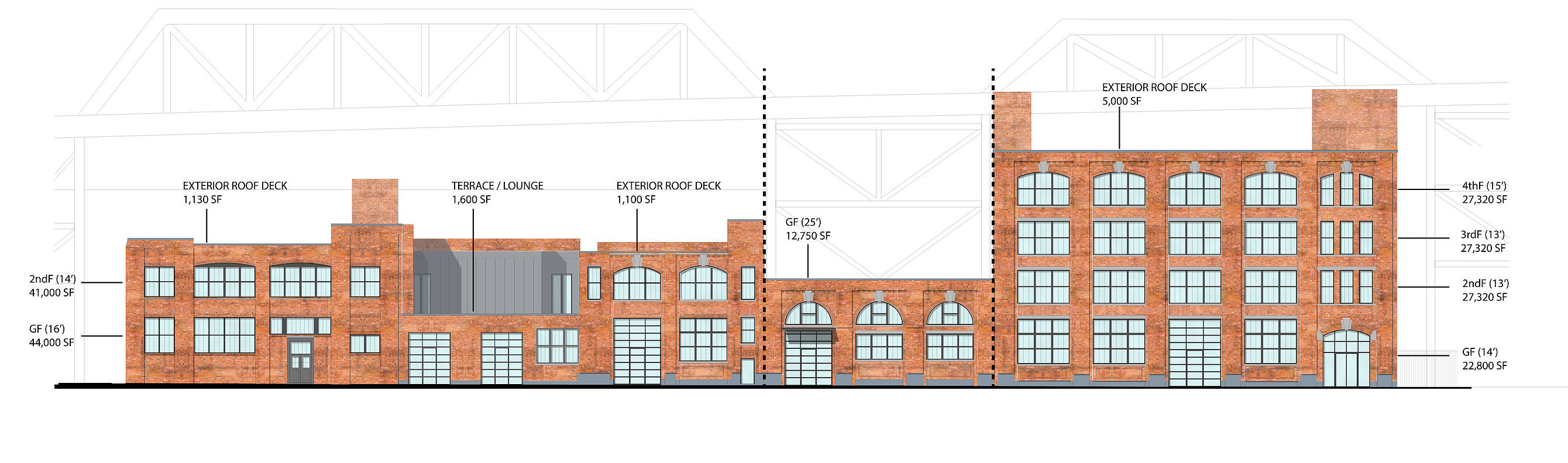 A diagram of the buildings at Roulston House, by Morris Adjmi Architects