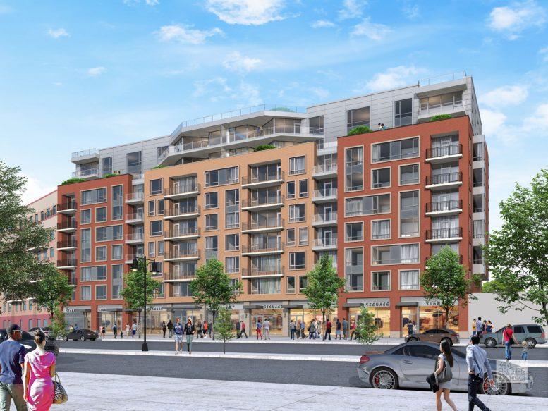 1-37 Beach 116 Street, rendering by Karl Fischer Architect