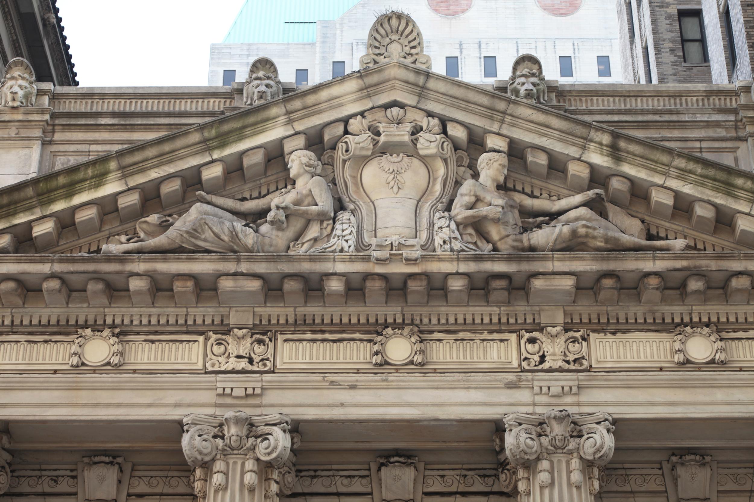 181 Montague Street, detail. LPC photo
