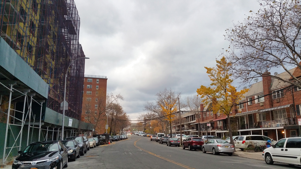Looking north along Parsons Boulevard
