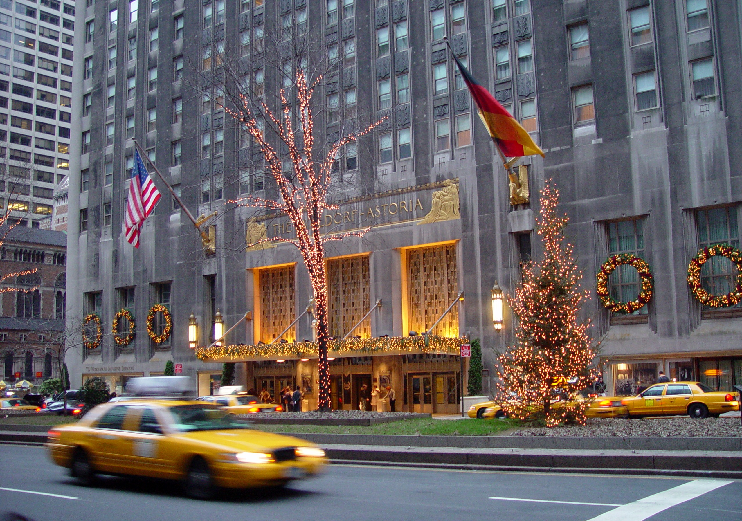 Park Avenue entrance to the Waldorf-Astoria Hotel. Credit: cogito ergo imago/Flickr