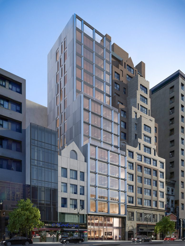 43 West 47th Street, rendering by Marin Architects